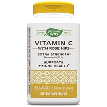 Vitamin C-1000 with Rose Hips Dietary Supplement Capsules