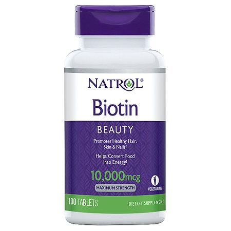 Natrol Biotin Maximum Strength 10,000 mcg Dietary Supplement Tablets