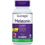 Natrol Melatonin 5 mg Dietary Supplement Tablets Strawberry