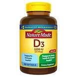 Nature Made D3 1000 IU Dietary Supplement Liquid Softgels