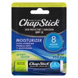 ChapStick Moisturizer Skin Protectant/Sunscreen SPF 15 Green Apple