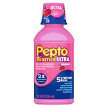 Pepto-Bismol Upset Stomach Reliever/Antidiarrheal Liquid Max Strength Cherry
