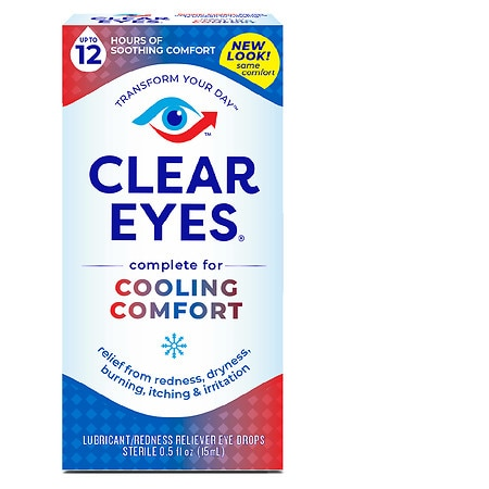 Clear eyes Cooling Comfort Lubricant/Redness Relief Eye Drops