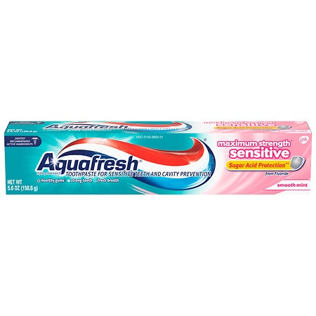Aquafresh Sensitive Maximum Strength Fluoride Toothpaste Smooth Mint