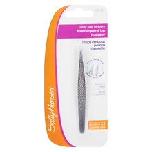 Sally Hansen Stray Hair Beware - Needlepoint Tip Tweezer with Safety Cap
