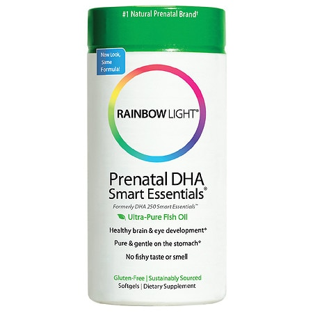 Rainbow Light Prenatal DHA Smart Essentials Ultra-Pure Fish Oil, Softgels