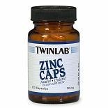 Twinlab Zinc 30 mg Dietary Supplement Capsules
