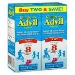 Children's Advil Children's Fever Ibuprofen Liquid Suspension 2 Pack Grape Flavored