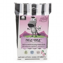 Natural Essentials Kids Noz-eez Extra Moisturizing Nose Wipes Sassy Strawberry