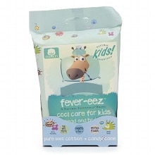 Natural Essentials Kids Fever-eez Forehead & Body Wipes