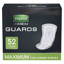 For Men Incontinence Guards Maximum Absorbency, One Size Fits All