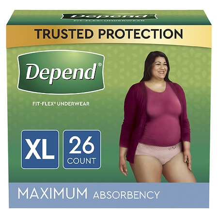 Depend for Women Underwear - Bonus Pack, Maximum Absorbency, Extra Large