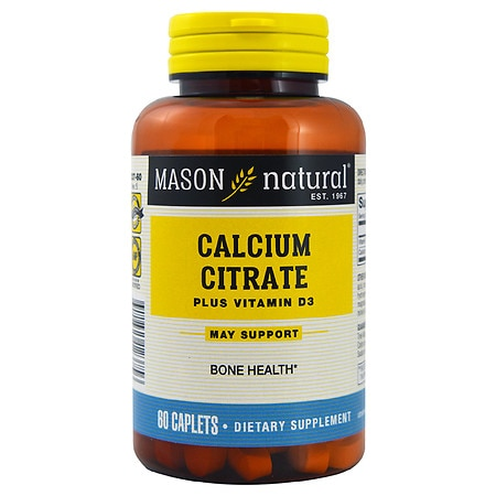 Mason Natural Calcium Citrate with Vitamin D3, Caplets