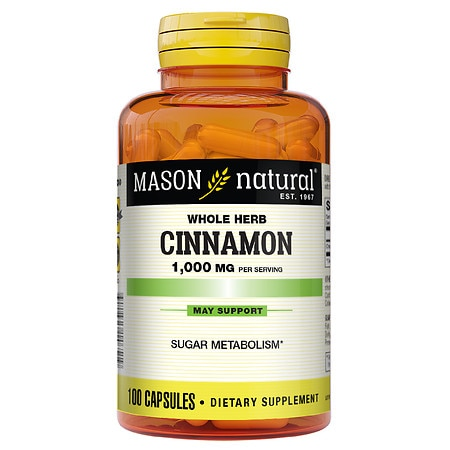 Mason Natural Cinnamon, 1000mg, Capsules