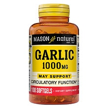 Mason Natural Garlic Oil 1000, Softgels
