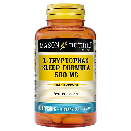 Mason Natural L-Tryptophan Sleep Formula, Capsules
