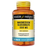 Mason Natural Magnesium Gluconate, 550mg, Tablets
