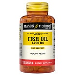 Mason Natural No Burp! Omega-3 Fish Oil, 1200mg, Softgels