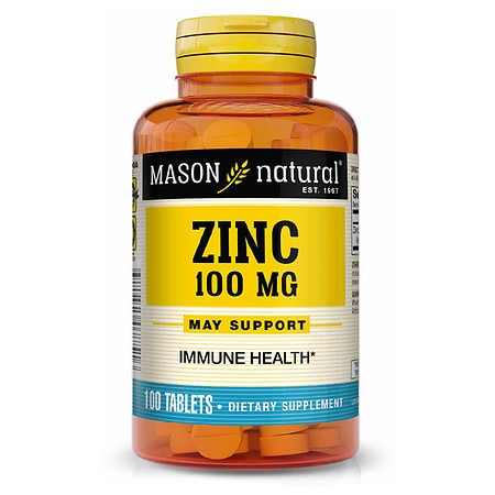 Mason Natural Zinc, 100mg, Tablets