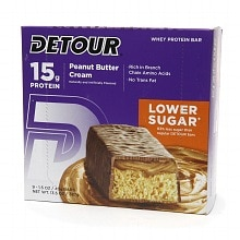 Detour 15g Whey Protein Bar, Lower Sugar Peanut Butter Cream