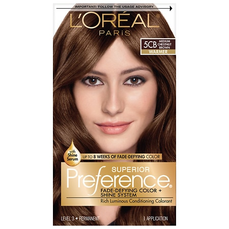 L'Oreal Paris Superior Preference Decadent Chocolate Collection Permanent Hair Color Medium Chestnut Brown 5CB