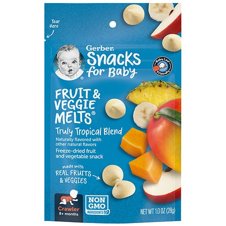 Gerber Graduates Fruit & Veggie Melts Truly Tropical Blend