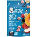 Gerber Graduates Graduates Fruit & Veggie Melts Freeze Dried Snacks Very Berry Blend