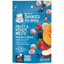Gerber Graduates Fruit & Veggie Melts Freeze Dried Snacks Very Berry Blend