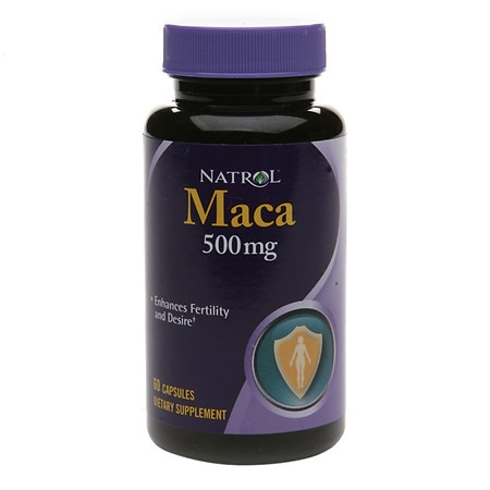 Natrol Maca 500 mg Dietary Supplement Capsules