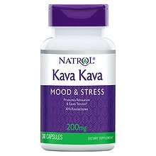 Kava Kava 200 mg Dietary Supplement Capsules