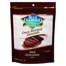 Blue Diamond Natural Oven Roasted Almonds Dark Chocolate