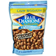 Blue Diamond Low Sodium Almonds Lightly Salted Sea Salt