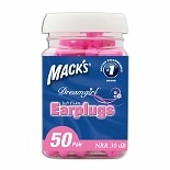 Mack's Dreamgirl Soft Foam Earplugs, 50 Pairs Pink