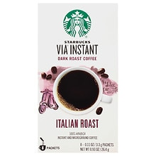 Starbucks Coffee Via Instant Coffee, Italian Roast