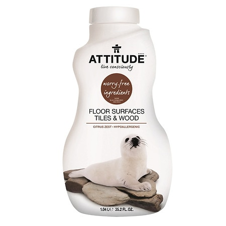 Attitude Floor Surfaces Cleaner Tiles & Wood Citrus Zest