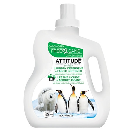 Attitude 2 in 1 Laundry Detergent, 40 Loads Mountain Essential