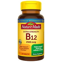 Nature Made Vitamin B-12 2500 mcg Dietary Supplement Tablets