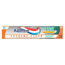 Aquafresh Extreme Clean Extreme Clean Fluoride Toothpaste Fresh Mint Pure Breath Action