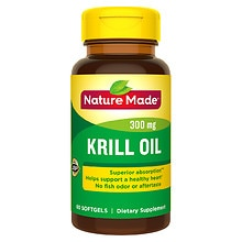 Krill Oil 300 mg Dietary Supplement Liquid Softgels