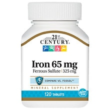 21st Century Iron 65mg, Tablets