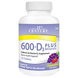 600 + D3 Plus Minerals, Chewable Tablets