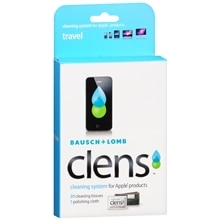 Bausch + Lomb Clens Cleaning System for Apple Products, Travel Kit
