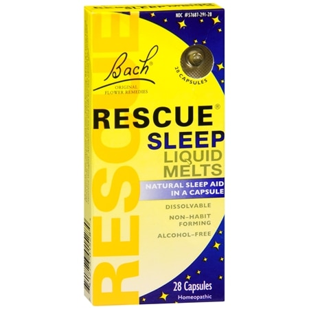 Bach Rescue Sleep Liquid Melts, Capsules