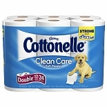 Clean Care with Soft Ripples Bath Tissue Double Rolls