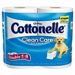 Cottonelle Clean Care with Soft Ripples Bath Tissue Double Rolls