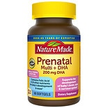 Nature Made Prenatal Multi + DHA Dietary Supplement Liquid Softgels