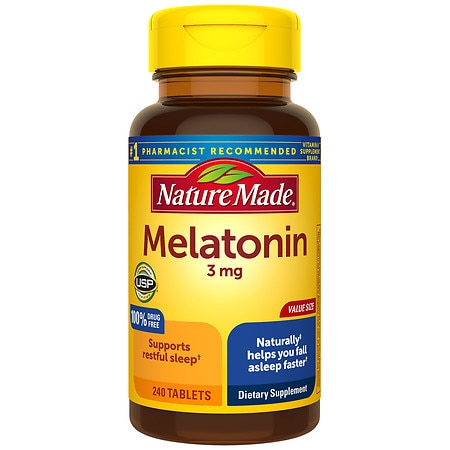 Nature Made Melatonin 3 mg Dietary Supplement Tablets