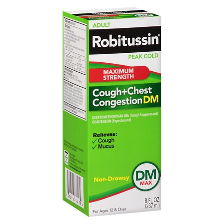 Robitussin Peak Cold Peak Cold Adult Cough + Chest Congestion DM Maximum Strength Liquid