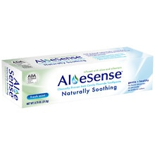 AloeSense Naturally Soothing Fluoride Toothpaste, Travel Size Fresh Mint