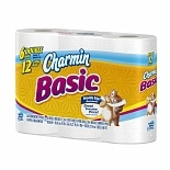 Charmin Basic Bathroom Tissue 6 Rolls White